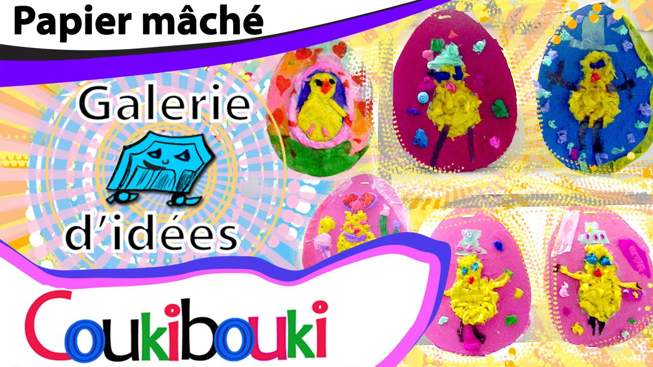 papier m che uf de p ques coukibouki activit artistique pour p ques easter egg paper mache. Black Bedroom Furniture Sets. Home Design Ideas
