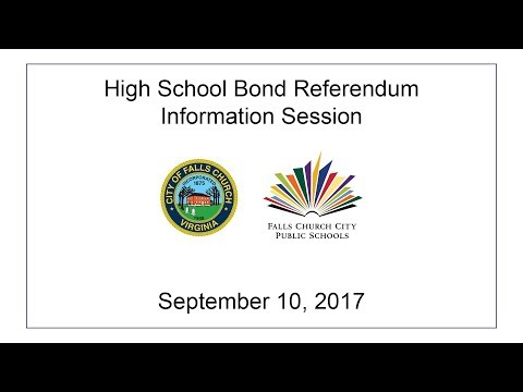 High School Bond Referendum Information Session: September 10, 2017