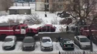 Пожар на складах на Кромском переулке в городе Орле