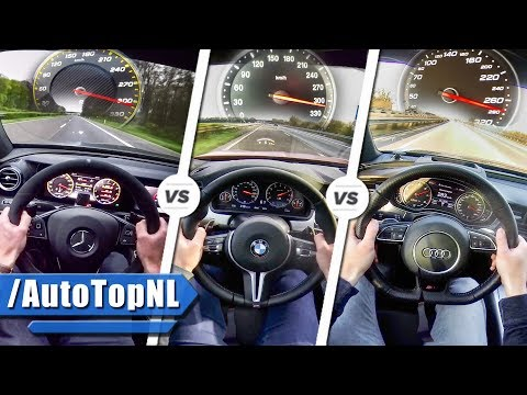 2017 E63 AMG S vs BMW M5 vs Audi RS7 | SOUND ACCELERATION TOP SPEED & AUTOBAHN POV by AutoTopNL
