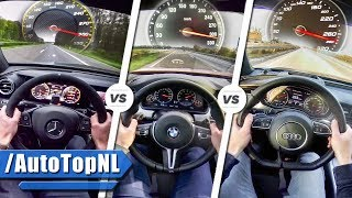 2017 E63 AMG S vs BMW M5 vs Audi RS7 | SOUND ACCELERATION TOP SPEED & AUTOBAHN POV by AutoTopNL