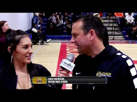 Edison (Fresno) vs San Joaquin Memorial High School Boys Basketball LIVE 1/30/19