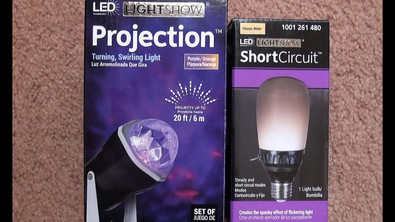 Fire And Ice Spotlight Short Circuit Light Bulb Halloween Youtube