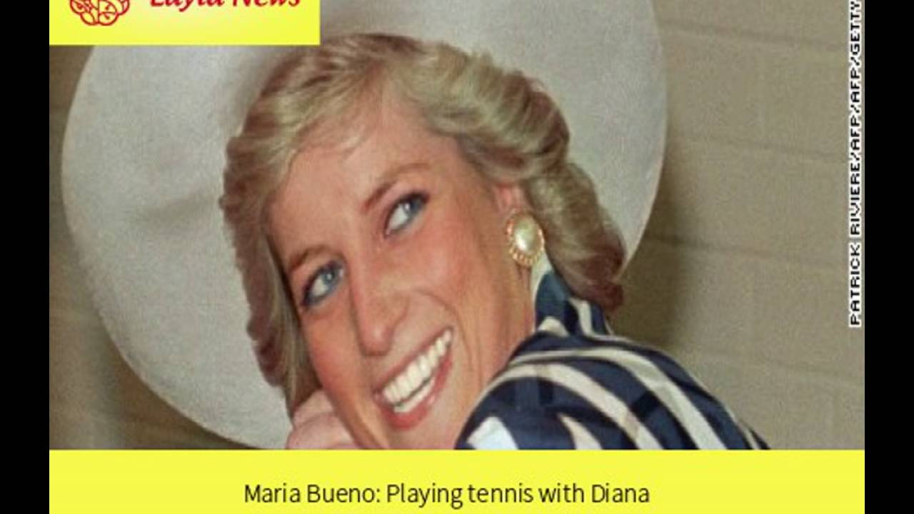 Maria Bueno Playing tennis with Diana