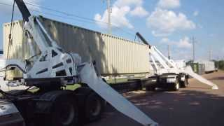 2005 Swing-Thru 27T container loading trailer