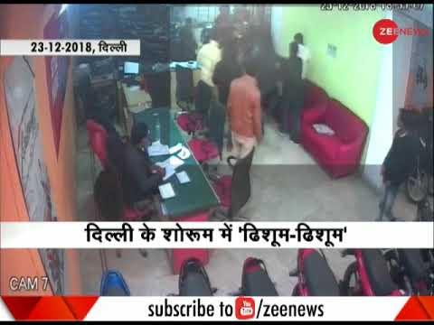 Shocking! Mob thrashes man inside a bike showroom in Delhi