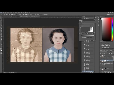 Timelapse: Restoring and Colorizing an Old Damaged Photo