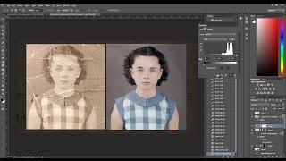 Old damaged photo RESTORATION & COLORIZATION - [TIMELAPSE]