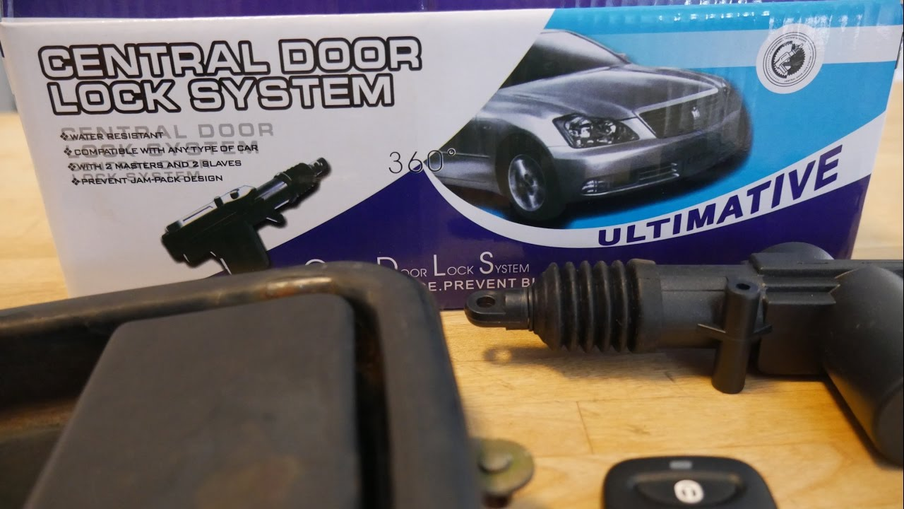 Universal Remote Entry Power Power Door Locks Install