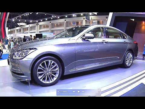 2016 2017 hyundai genesis 5 0 v8 or 3 8 v6 311hp biggest luxury sedan youtube. Black Bedroom Furniture Sets. Home Design Ideas