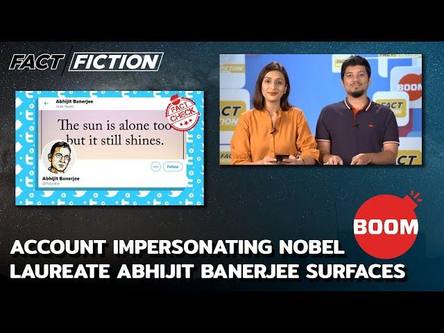 Account Impersonating Nobel Laureate Abhijit Banerjee Surfaces