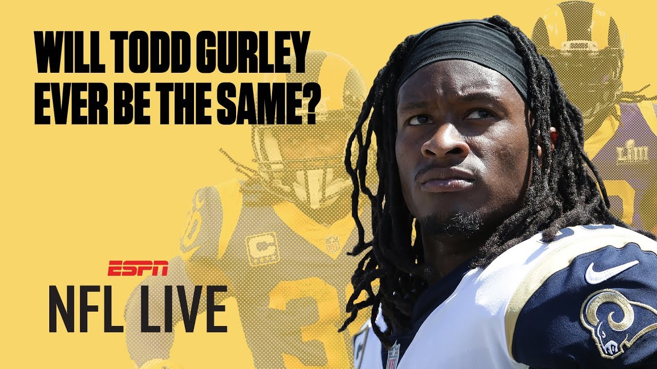 20d57592 Will Todd Gurley's knee injury be a major concern for the Rams this season?  | NFL Live