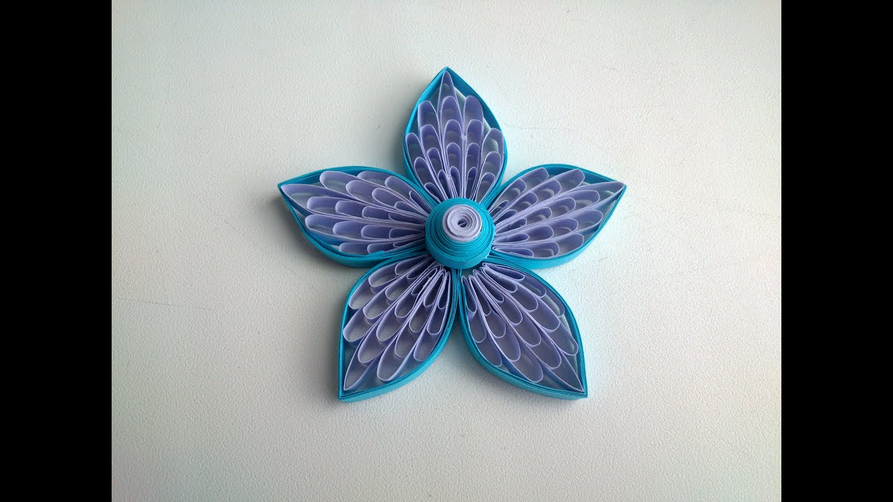 Quilling Flowers Tutorial Using A Comb