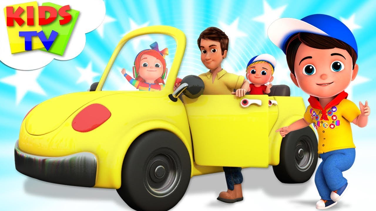Driving Down The Road | Junior Squad Cartoons | Kindergarten Songs & Nursery Rhymes - Kids Tv