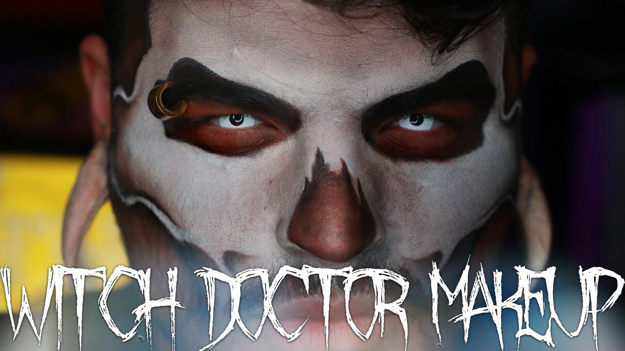 Witch Doctor Halloween Makeup Tutorial | Jordan Hanz | 31 Days of ...