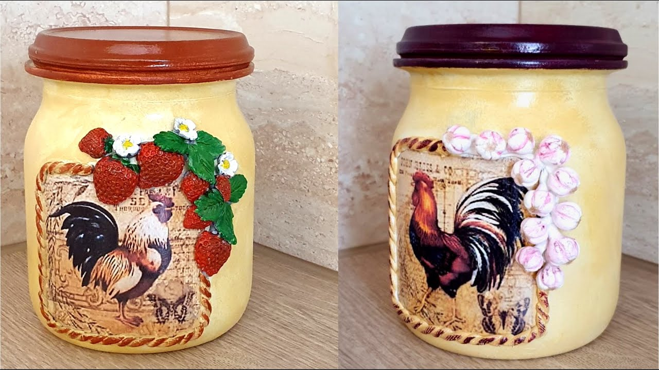 Diy / Glass jars Decoration / Kitchen decor idea