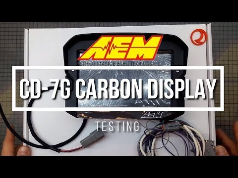 Unboxing And Testing The AEM CD-7G Carbon Non-Logging Dash!