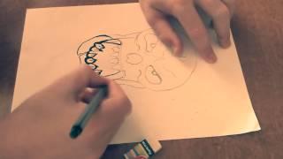 Bидео урок как нарисовать голову скелета.(Like and Subscribe!xD., 2016-08-07T18:50:24.000Z)
