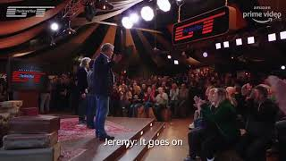 The Grand Tour: Jeremy Clarkson visibly emotional as he bids farewell to studio tent