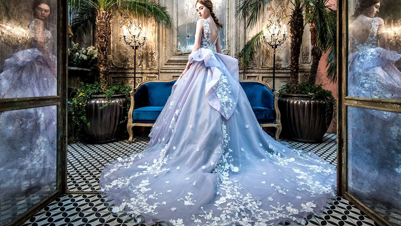Cang ai wedding 2017 vol 3 youtube for Wedding dress with blue detail