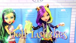 Monster High Special: How To Make Doll Food: Lunches - Doll Crafts