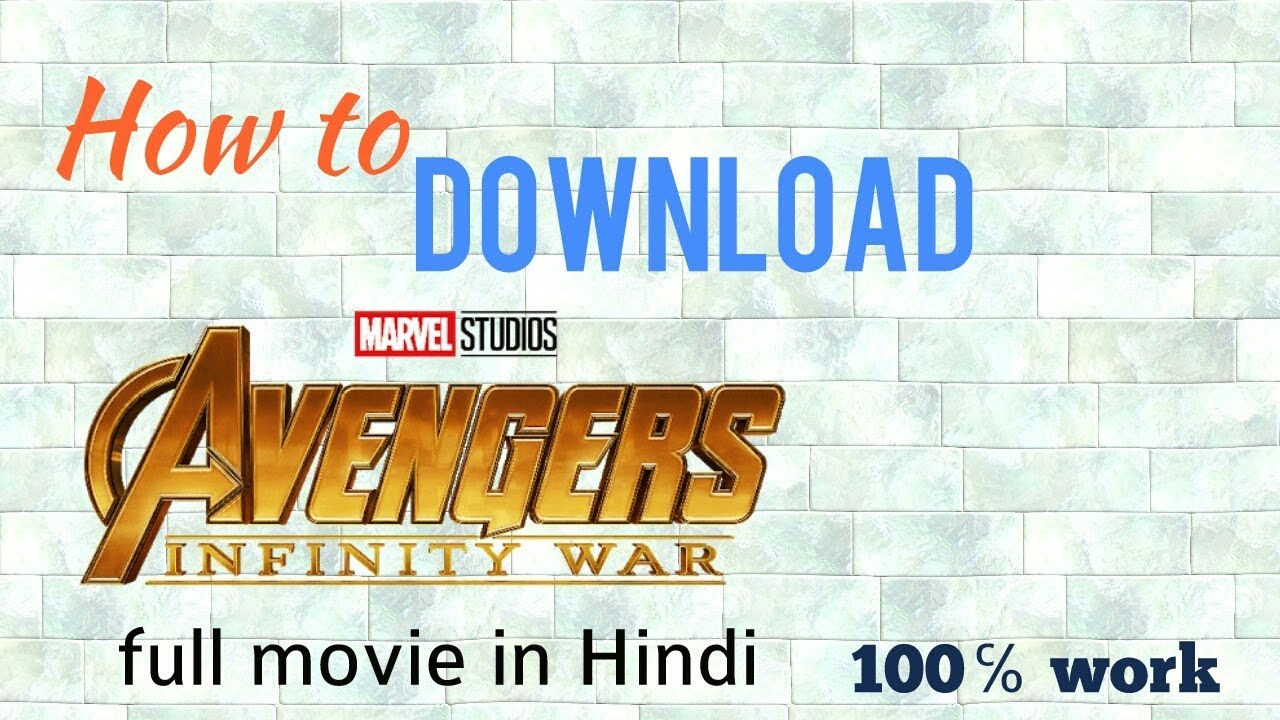   How to download avengers infinity war   full movie   HD in Hindi  