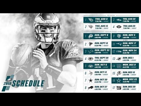 Nfl Eagles Schedule 2020 Eagles Fan Reacting To The Philadelphia Eagles 2019 NFL Schedule