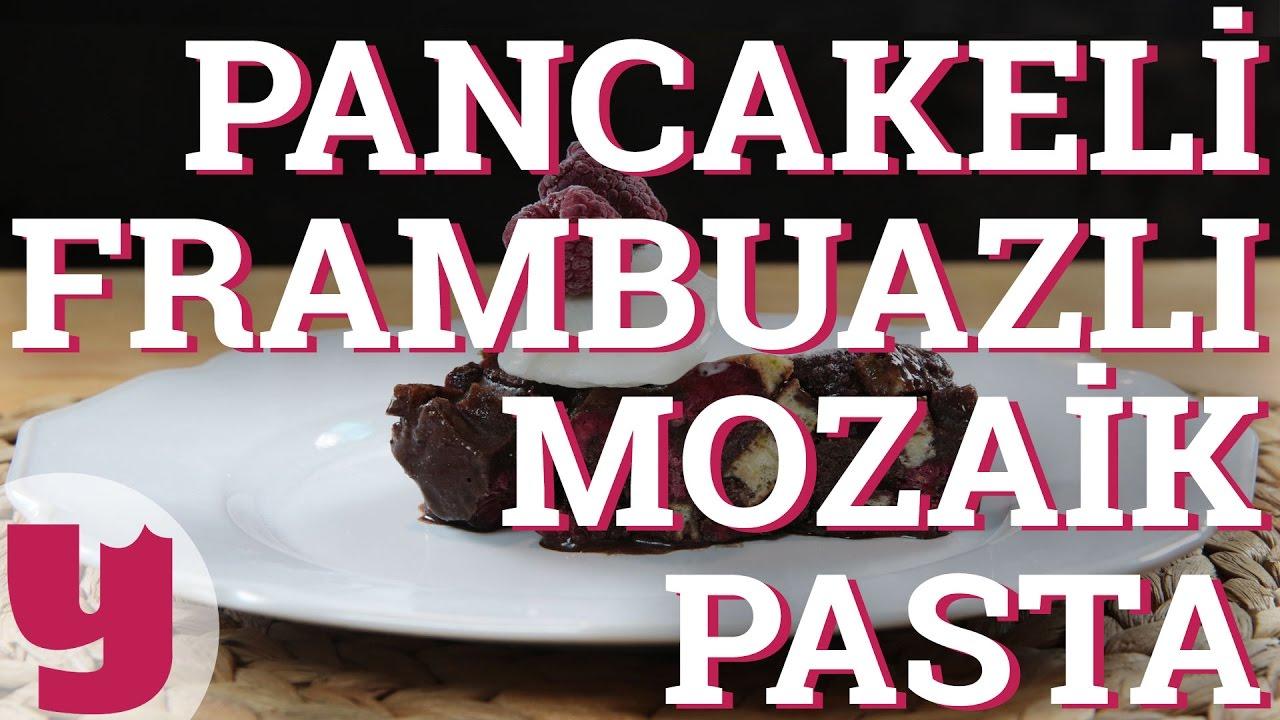 Buralarda Yeni: Pancakeli Frambuazlı Mozaik Pasta ile ilgili görsel sonucu