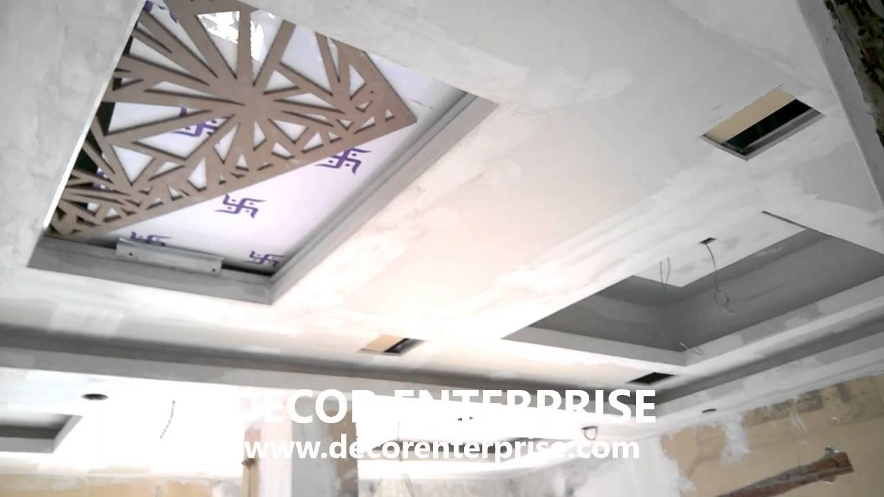 Part 1 false ceiling gypsum board false ceiling design for Gypsum board design catalogue