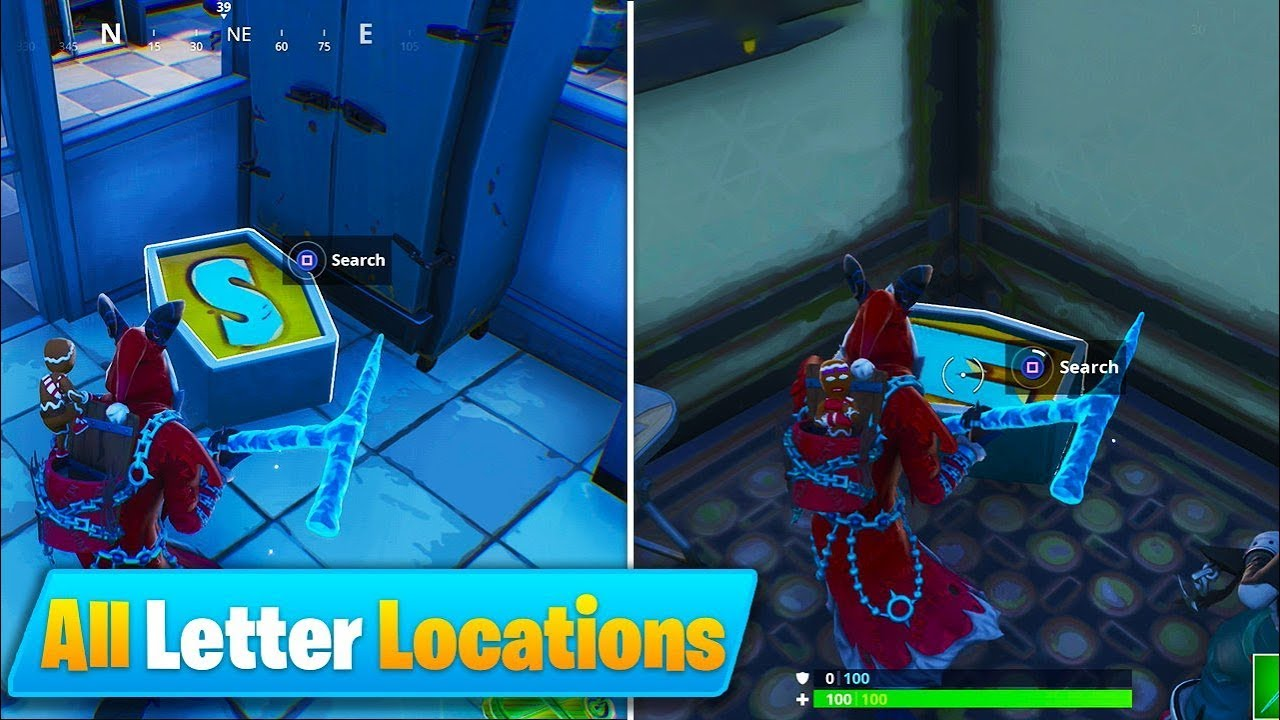fortnite season7 challenges - noms letters fortnite season 7