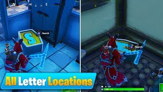 All ''N O M S'' Search the letter Locations - Week 4 Challenges Guide (Fortnite Season 7)