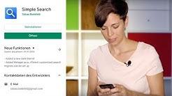 Simple Search: Suchleiste für alle Suchmaschinen (Android)