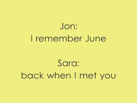 Summer is Over - Jon McLaughlin ft. Sara Bareilles (Lyrics)