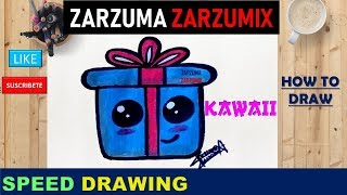 🎁SPEED DRAWING HOW TO DRAW A GIRF KAWAII STEP BY STEP🎁