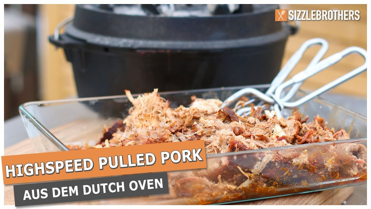Pulled Pork I Weber Gasgrill : Highspeed pulled pork pulled pork aus dem dutch oven in