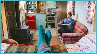 One of The Indie Projects's most viewed videos: Woman Built a Beautiful Rustic TINY HOUSE - Tour!