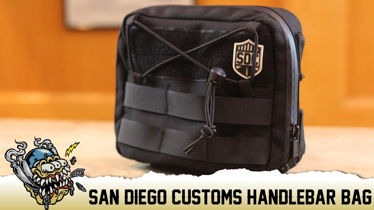 29ee3a7094 San Diego Customs Handlebar Bag Overview - Deadbeatcustoms.com - YouTube