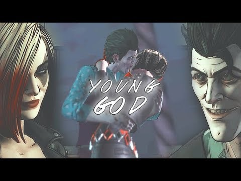 Joker + Harley Quinn   young god   batman telltale
