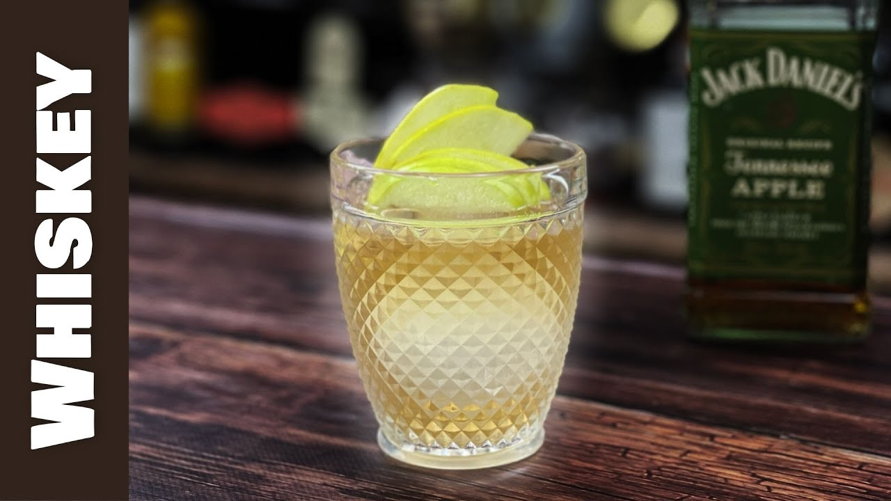 Jack Daniels Apple Whiskey Cocktails - Old Fashioned with Plum & Ginger