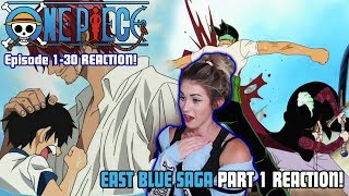 THE ADVENTURE BEGINS! One Piece East Blue Saga Episode 1-30 REACTION!