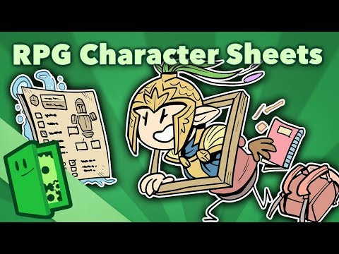 RPG Character Sheets - Designing Gameplay Around Character Customization - Extra Credits