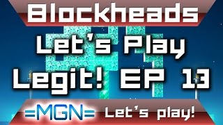 Blockheads - Let's Play Legit EP 13 - MORE Sky islands!! WOW!
