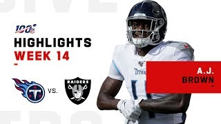 A.J. Brown EATS Up 153 Yds & 2 TDs vs. Oakland | NFL 2019 Highlights