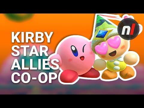 Kirby Star Allies Co-Op Nintendo Switch Gameplay