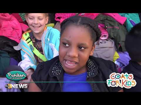 Coats For Kids 2017 visits Echo Lake Elementary