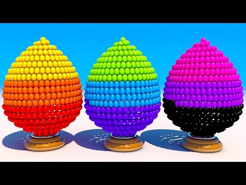 Thumbnail: Learning Colors with 3D Easter Eggs for Kids and Children