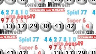 Lotto Ziehung am Mittwoch - Lottozahlen vom 28.06.2017