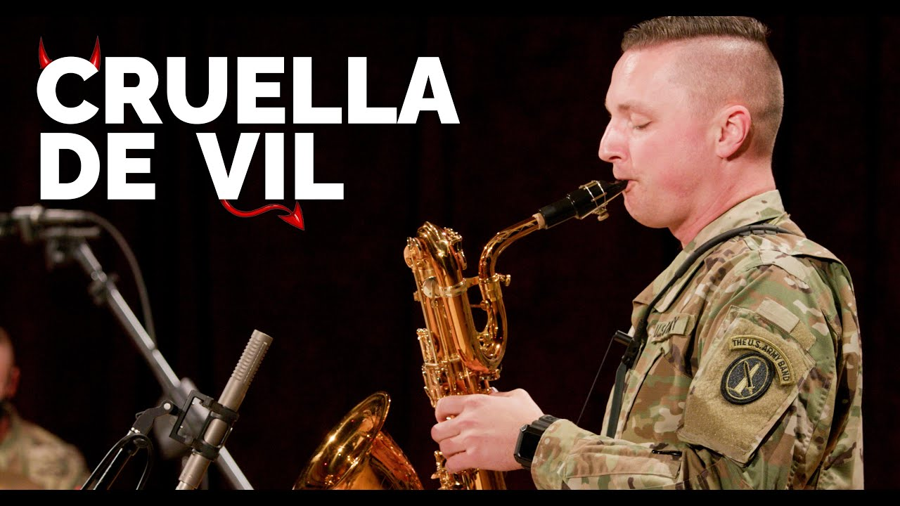 """Cruella de Vil from @Disney 's """"One Hundred and One Dalmatians"""" performed by The U.S. Army Band"""