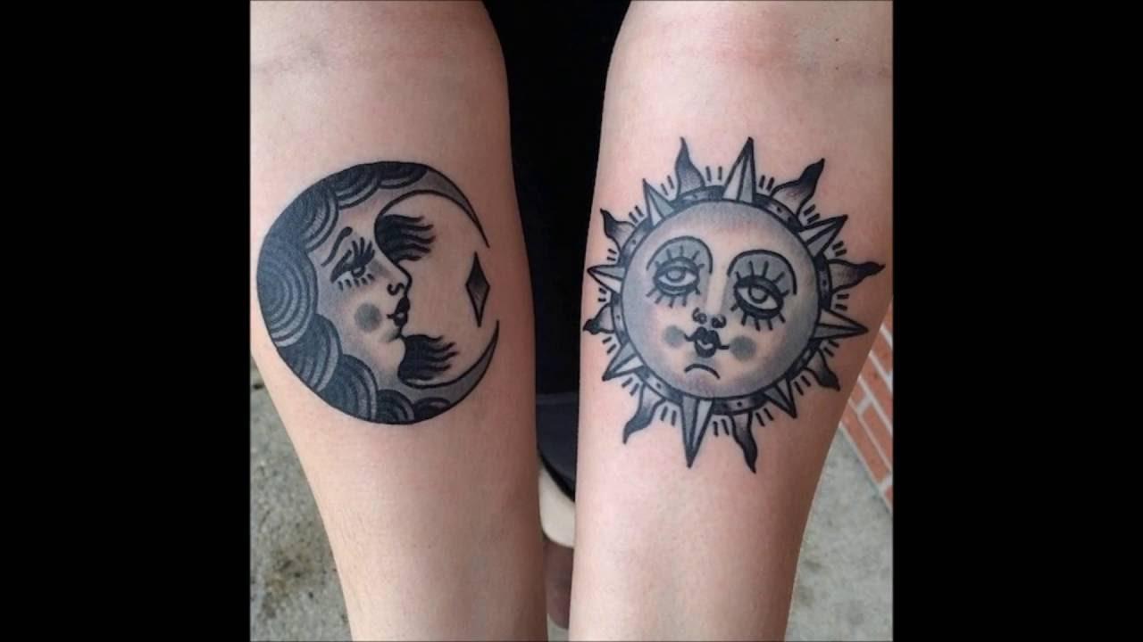 Moon And Sun Couple Tattoos