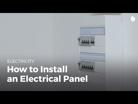 How to Install an Electrical Panel | Electricity